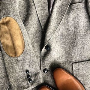 Other - MENS  gray pure wool BLAZER/ SUIT JACKET